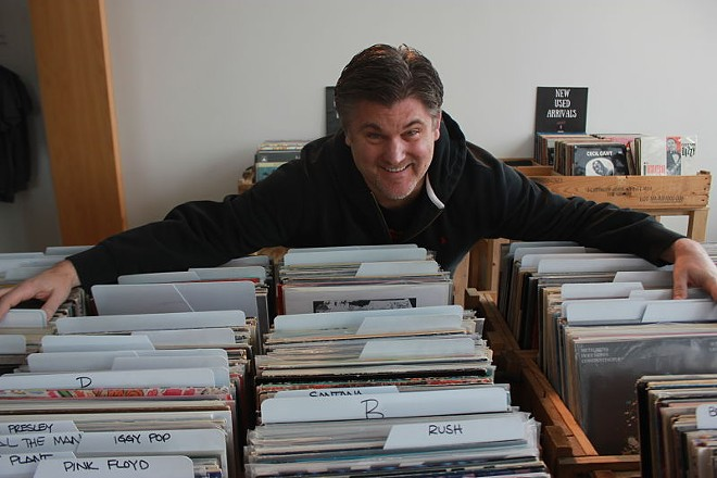 Mark Carter, Music Record Shop owner and lover of all things vinyl. - PHOTO BY DANIEL HILL