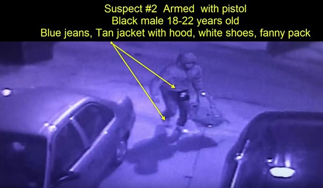 One of the two suspects in a south St. Louis carjacking is shown in a surveillance video screenshot. - IMAGE VIA SLMPD/YOUTUBE