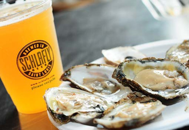 Oysters and stout come together this weekend at the Schlafly Tap Room. - EGAN O'KEEFE