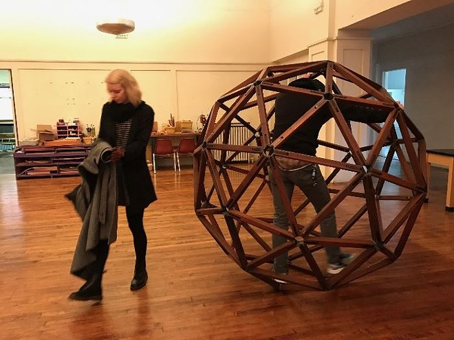 That big weird ball sculpture thing? You can buy it! - PHOTO VIA MOMODERNE ANTIQUES ESTATE SALES