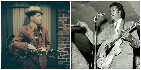 Pokey LaFarge, left, contemplates the complicated legacy of Chuck Berry. - GLENN HALL/MISSOURI HISTORY MUSEUM
