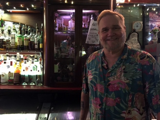 Bob Putnam, owner of the Way Out Club - PHOTO BY JAIME LEES