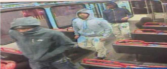 These are three of six persons of interest St. Louis police are trying to identify in a MetroLink killing. - IMAGE VIA SLMPD