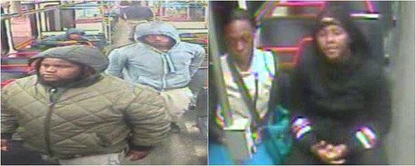 St. Louis police are trying to identify six persons of interest in Sunday's MetroLink homicide. - IMAGES VIA SLMPD