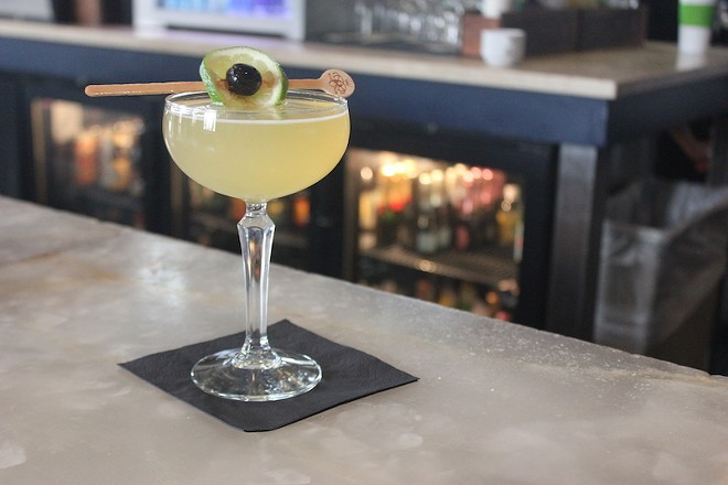 """The """"Air Mail,"""" a classic '40s cocktail on the Chase Club's menu. - PHOTO BY SARAH FENSKE"""