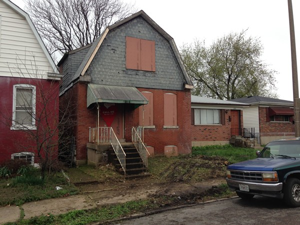 This house at 3735 California Avenue was saved from demolition and will be sold for $1,500. - PHOTO BY DOYLE MURPHY