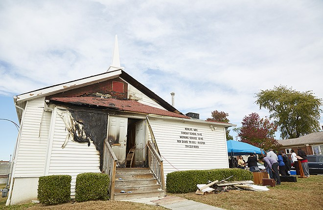 The New Life Missionary Baptist Church was targeted during a string of church fires in 2015. - STEVE TRUESDELL