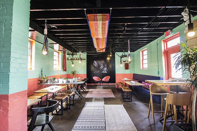 Nixta's bright hues have transformed the former fried chicken shack. - MABEL SUEN