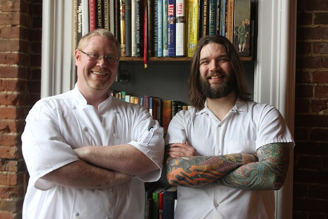 Executive chef Thomas Futrell and sous chef Chris Kryzsik. - PHOTO BY SARAH FENSKE