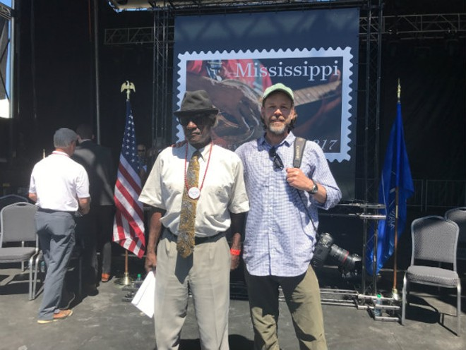 "Blues musician Jimmy ""Duck"" Holmes, left, with St. Louis photographer Lou Bopp - MICHAEL SCHULZE"