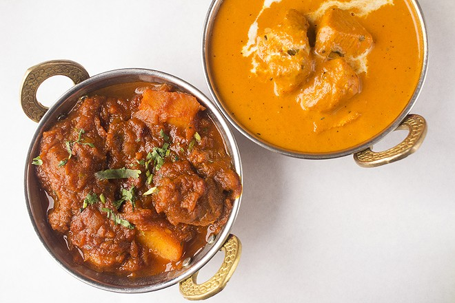 The lamb vindaloo and chicken tikka masala show that the restaurant also excels at Indian standards. - MABEL SUEN