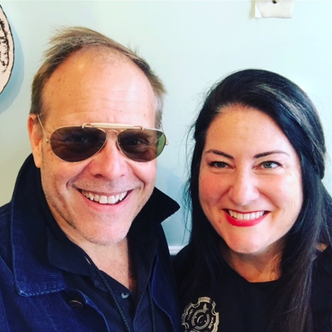 Alton Brown, left, with Tamara Keefe, owner of Clementine's Creamery.eat - COURTESY OF TAMARA KEEFE