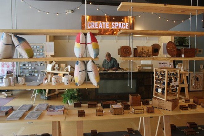 Located in the heart of the Loop, Create Space hosted 22 artists and craft makers. - PHOTO BY DOYLE MURPHY