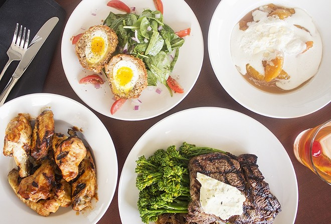 Offerings at the Wood Cask, Dan Marten's longer-lived Kirkwood restaurant. - PHOTO BY MABEL SUEN