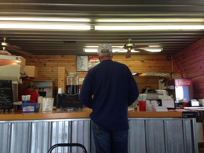 The sheriff's troubles have been a hot topic of conversation in the Prairie Queen restaurant in East Prairie. - PHOTO BY DOYLE MURPHY