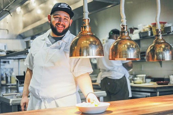 Sam Witherspoon, Sardella's executive sous chef. - KELLY GLUECK