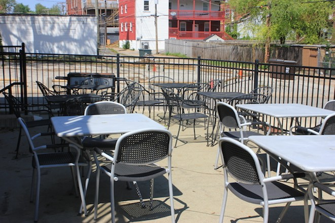 The owners plan to offer cook-outs out back in the summer. - PHOTO BY SARAH FENSKE