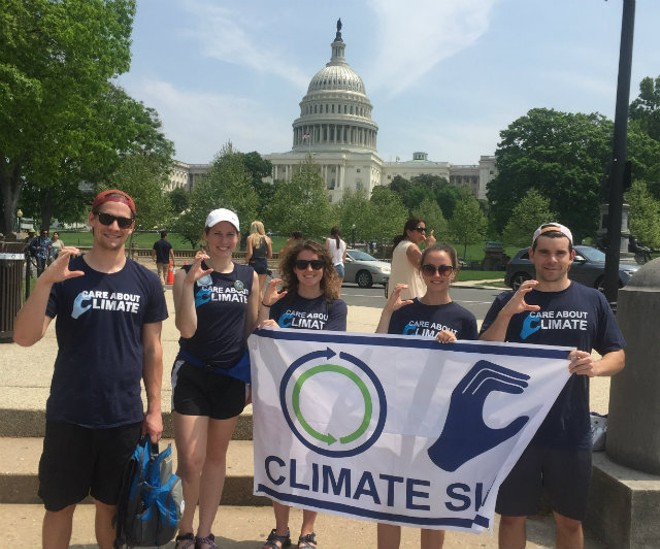 The Midwest — and Saint Louis University — represents in Washington, D.C. on April 29. - COURTESY OF MADELINE EMERSON