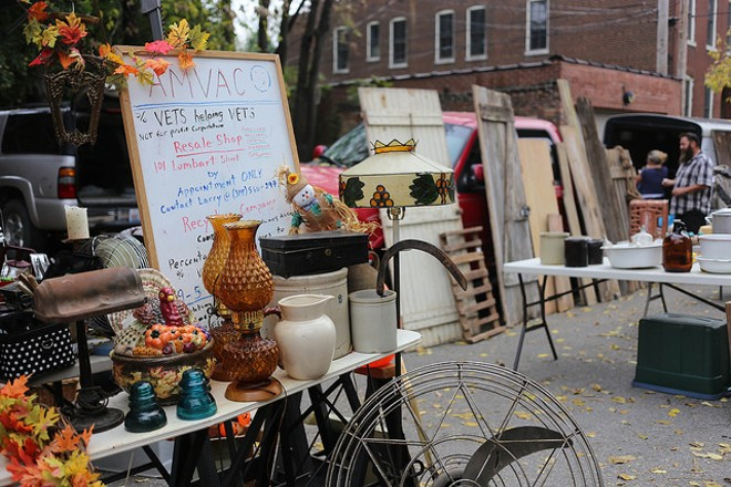 A table at the St. Louis Swap Meet on Cherokee Street. - PHOTO COURTESY OF FLICKR / PAUL SABLEMAN.