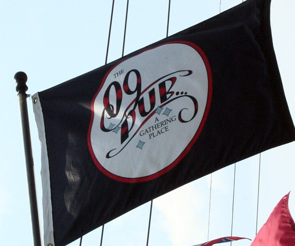 The Double D's sign is still up, but look for the 09 Pub flag to know you're in the right spot. - PHOTO BY JOHNNY FUGITT