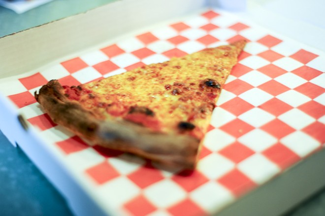 A cheese slice will set you back $3. - PHOTO BY KELLY GLUECK