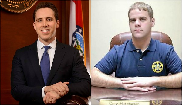Attorney General Josh Hawley (left) is investigating Mississippi County Sheriff Cory Hutcheson. - IMAGES VIA FACEBOOK/MISSISSIPPI COUNTY
