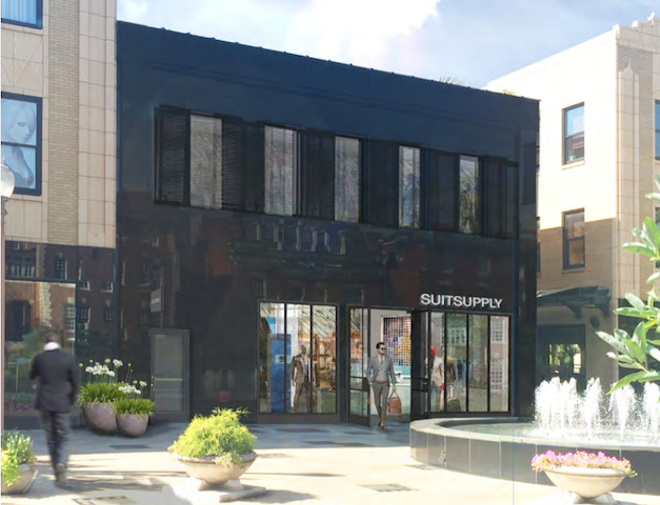 The men's retailer will be located in the spot that previously held 10denza. - ARTIST'S RENDERING