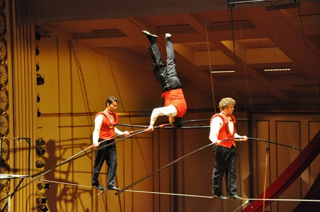 The Flying Wallendas show their stuff at Circus Flora. - HARALD BOERSTLER