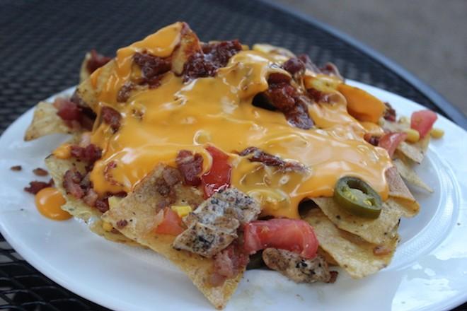 Loaded nachos. - PHOTO BY SARAH FENSKE