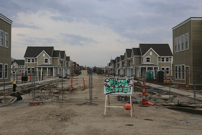 A new housing development underway on Sarah Street. - PHOTO COURTESY OF FLICKR/PAUL SABLEMAN