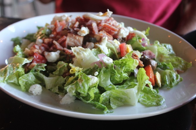 A chopped baby romaine salad comes dressed in creamy ranch. - PHOTO BY SARAH FENSKE