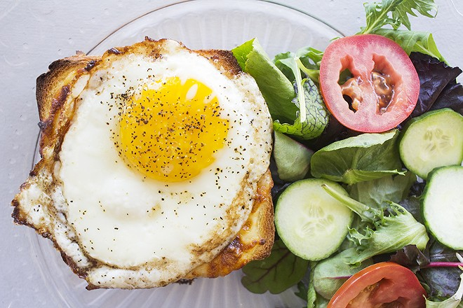 One of Like Home's specialties is the croque madame. - PHOTO BY MABEL SUEN