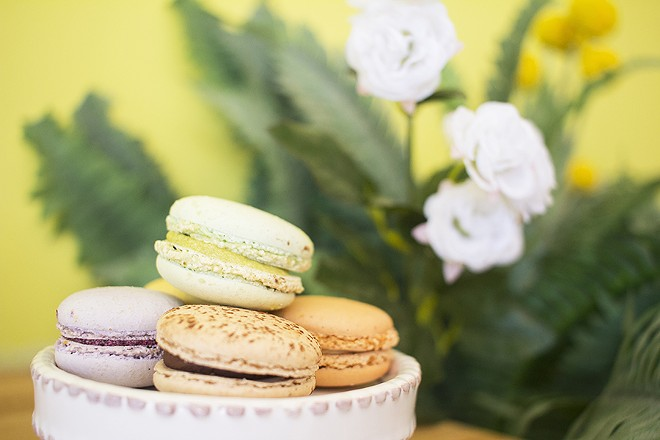 Macarons are available in flavors such as chocolate, blueberry, lemon, caramel and pistachio. - PHOTO BY MABEL SUEN
