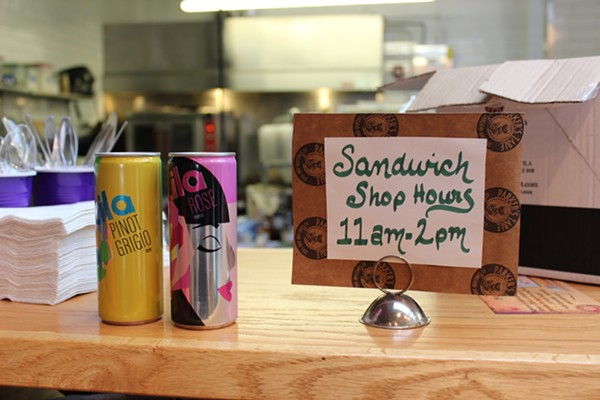 Sandwiches come with chips and your choice of water, or you can purchase wine instead. - PHOTO BY LAUREN MILFORD