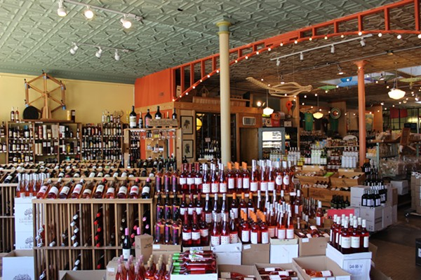 The store features a large variety of wine. - PHOTO BY LAUREN MILFORD