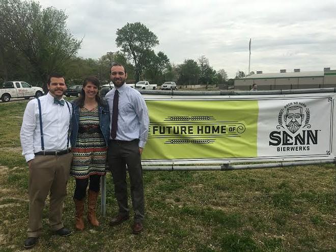 Senn Bierwerks founders (from left to right) Dustin Chalfant, Kristen Chalfant and James Hellmuth. - CHERYL BAEHR