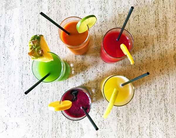 A RAINBOW OF FRESH-PRESSED JUICES AT THE JUICE | SARA GRAHAM