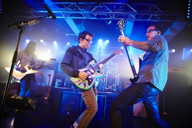 Weezer performing at Plush in 2014. The band will play LouFest's second day on Sunday, September 10. - PHOTO BY STEVE TRUESDELL