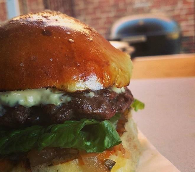 Scott Davis' burger skills are on display Fridays at Gazellig. - COMPLIMENTS OF SCOTT DAVIS