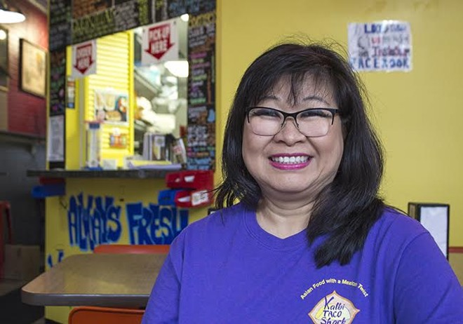 Sue Wong-Shackelford is back with her first love at Kalbi Taco Shack. - SARA BANNOURA