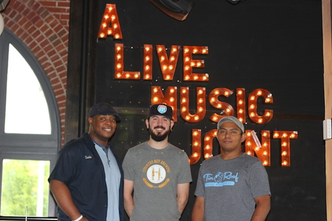 General Manager Zachary Johnson, left, with Assistant General Manager Tanner Huddleston and Executive Chef Nowell Gata. - PHOTO BY SARAH FENSKE