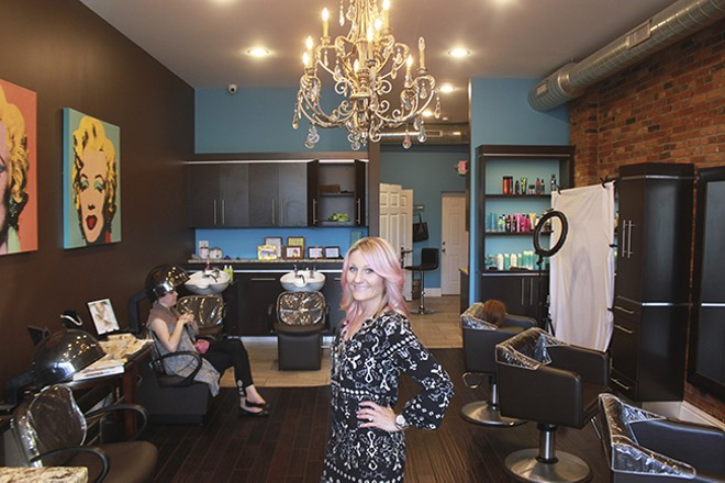 Amela Okanovic grew up in Bevo and returned to the neighborhood to open a salon. - DOYLE MURPHY