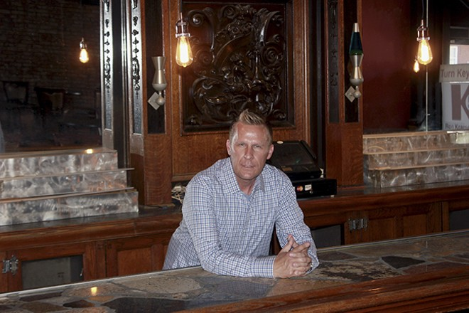 Tony Zanti behind the ornate bar at Luna Lounge. - DOYLE MURPHY