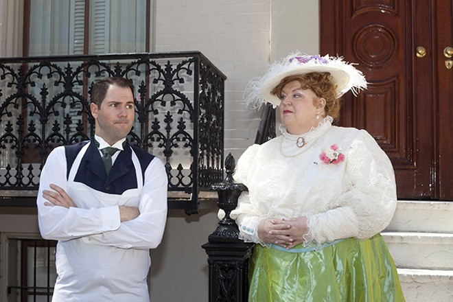 David Walton and Christine Brewer star in Union Avenue Opera's production of Albert Herring. - (C) 2017 UNION AVENUE OPERA AND JOHN LAMB.