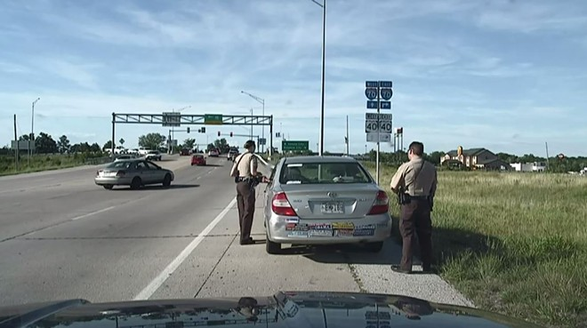 Dashcam video didn't match a columnist's description of a traffic stop. - VIA BOONE COUNTY SHERIFF DEPARTMENT