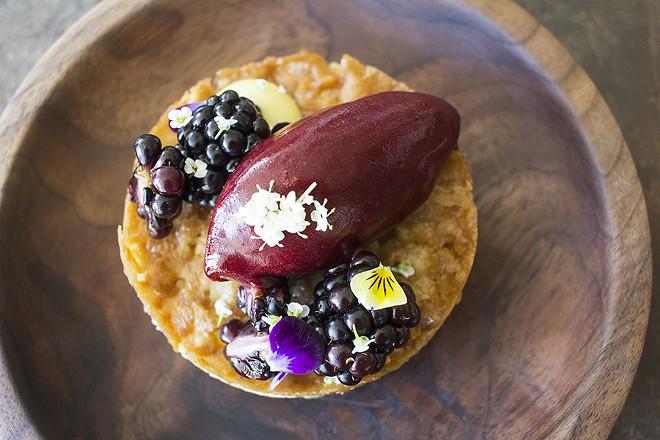 Vicia's blackberry tart. - MABEL SUEN