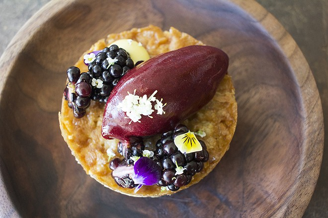 Vicia's blackberry tart. - MABEL SUEN