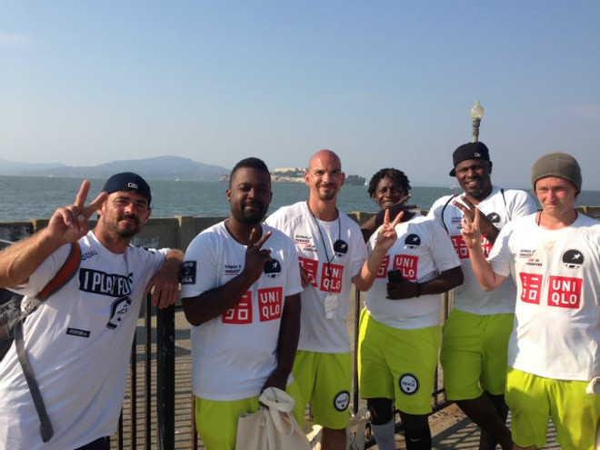 Cliff Byrd (far right) was recently selected to represent the U.S. at the Homeless World Cup in Oslo, Norway. - PHOTO COURTESY OF JENNIFER MEYERS
