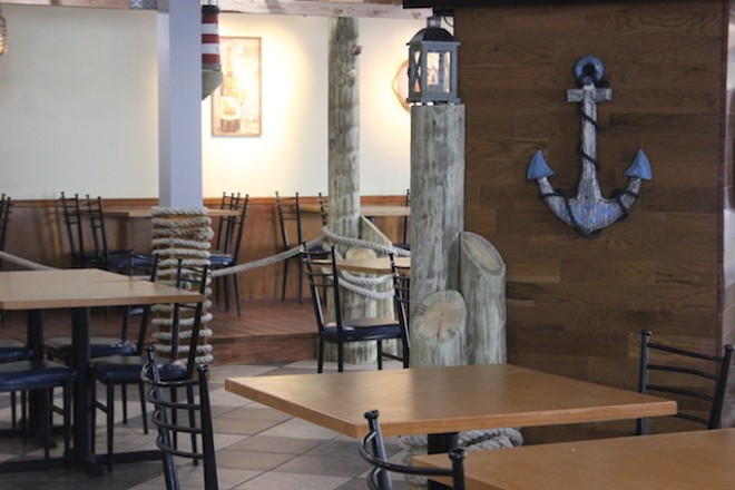 A seafood theme permeates the space. - PHOTO BY SARAH FENSKE
