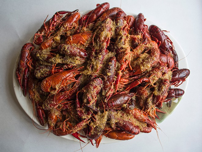 Crawfish start at just $6 per pound. - PHOTO BY SARA BANNOURA